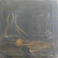 Arte: OLEO SOBRE TELA - ANÒNIMO - FINALES DEL XIX - BODEGON OSCURO. Lote 57431212