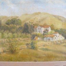 Arte: OLEO SOBRE TELA - FIRMADO GUINJOAN - JULIO DE 1945 - PAISAJE. Lote 57432801
