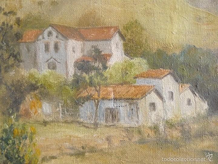 Arte: OLEO SOBRE TELA - FIRMADO GUINJOAN - JULIO DE 1945 - PAISAJE - Foto 2 - 57432801