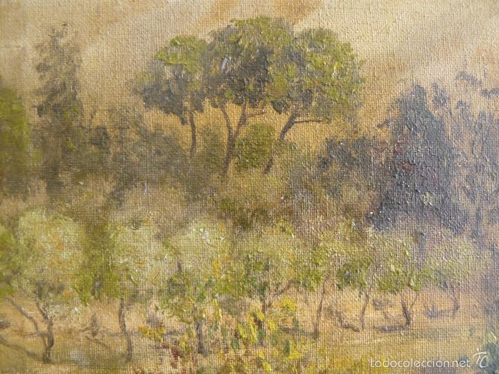 Arte: OLEO SOBRE TELA - FIRMADO GUINJOAN - JULIO DE 1945 - PAISAJE - Foto 3 - 57432801