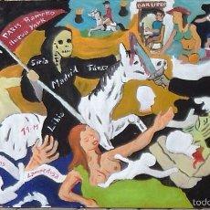 Arte: EL TERRORISMO, DE CRESPO(ÓLEO SOBRE TABLA DE 70X120 M.. Lote 57478949