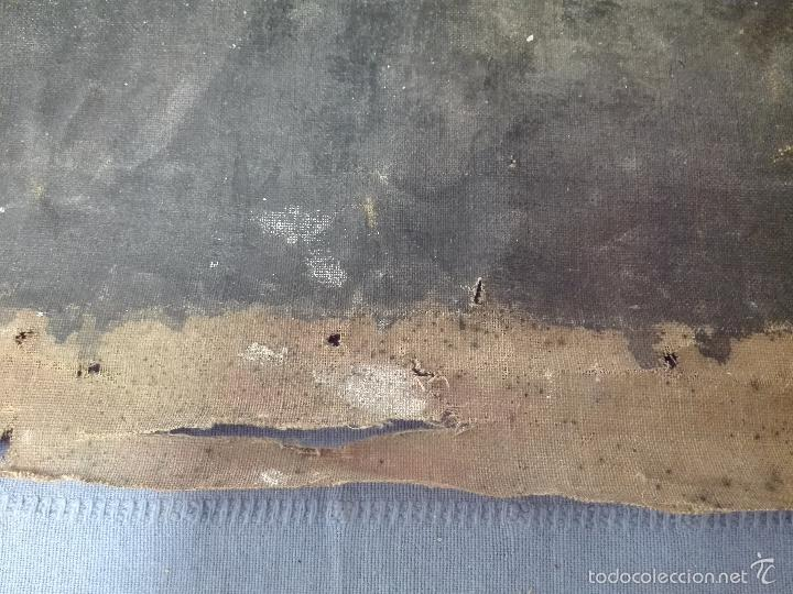 Arte: ANTIGUO OLEO SOBRE LIENZO RETRATO DE MUJER - FIRMADO L-R.FORNS - 77 X 55 CM - TRASERA OTRO CUADRO - - Foto 6 - 57544546