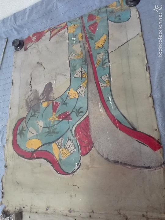 Arte: ANTIGUO OLEO SOBRE LIENZO RETRATO DE MUJER - FIRMADO L-R.FORNS - 77 X 55 CM - TRASERA OTRO CUADRO - - Foto 7 - 57544546