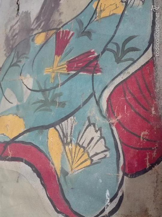 Arte: ANTIGUO OLEO SOBRE LIENZO RETRATO DE MUJER - FIRMADO L-R.FORNS - 77 X 55 CM - TRASERA OTRO CUADRO - - Foto 8 - 57544546