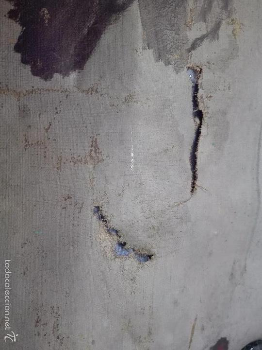 Arte: ANTIGUO OLEO SOBRE LIENZO RETRATO DE MUJER - FIRMADO L-R.FORNS - 77 X 55 CM - TRASERA OTRO CUADRO - - Foto 9 - 57544546