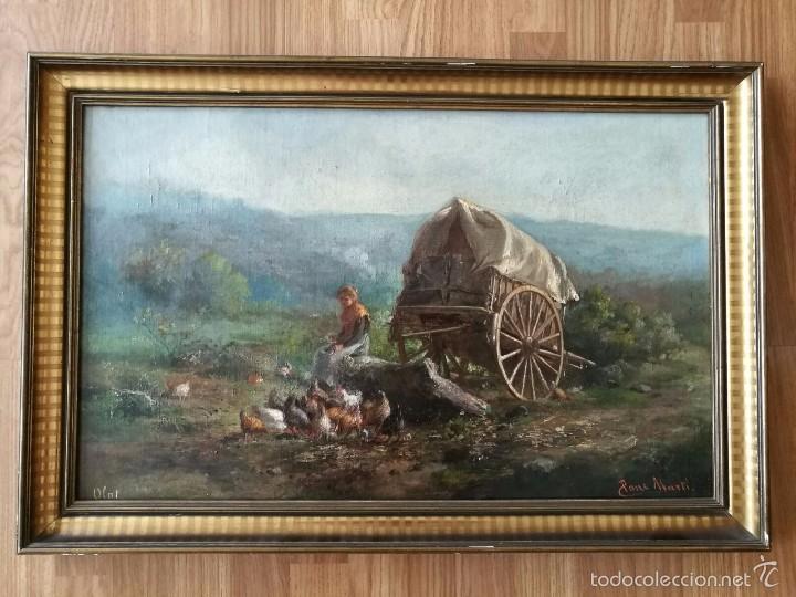 * OLEO ORIGINAL DE :JAUME PONS MARTÍ ( 1855-BARCELONA, 1930-GIRONA). ((RF:G) (Arte - Pintura - Pintura al Óleo Moderna siglo XIX)