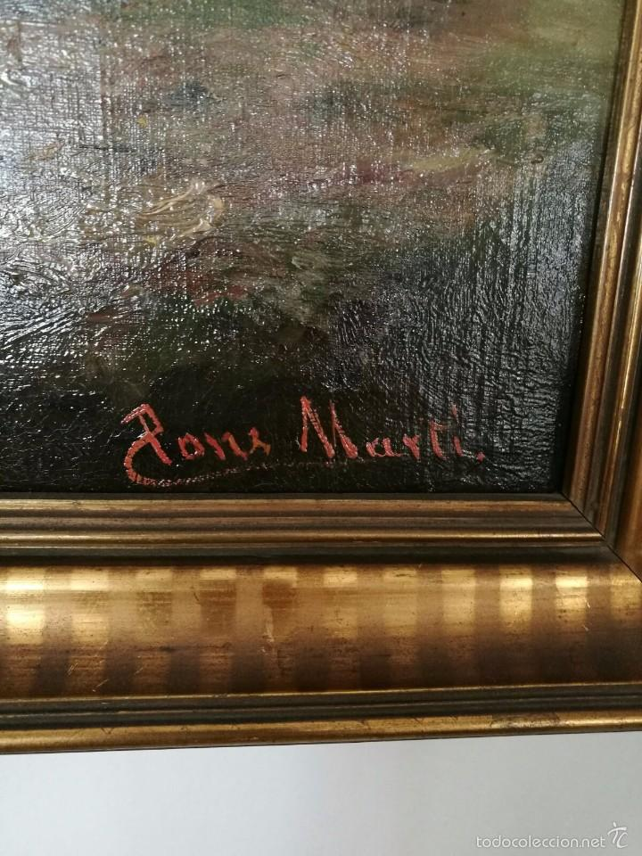 Arte: * OLEO ORIGINAL DE :JAUME PONS MARTÍ ( 1855-BARCELONA, 1930-GIRONA). ((Rf:G) - Foto 2 - 101795772