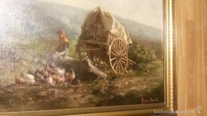 Arte: * OLEO ORIGINAL DE :JAUME PONS MARTÍ ( 1855-BARCELONA, 1930-GIRONA). ((Rf:G) - Foto 4 - 101795772