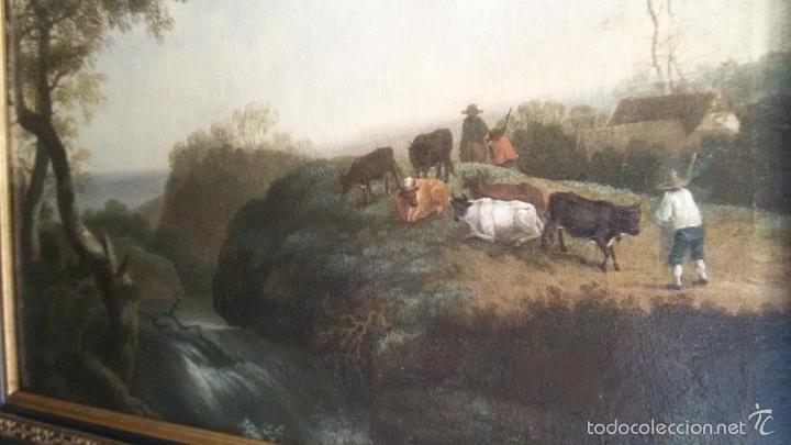 Arte: PAISAJE BUCOLICO HOLANDES - S.XVIII - OLEO SOBRE LIENZO - IMPORTANTE MARCO - ESCUELA HOLANDESA - - Foto 2 - 119155479