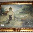 Arte: AGUADA SOBRE PAPEL. S.XIX. MONJES TOCANDO LA CAMPANA Y REZANDO.. Lote 57580224