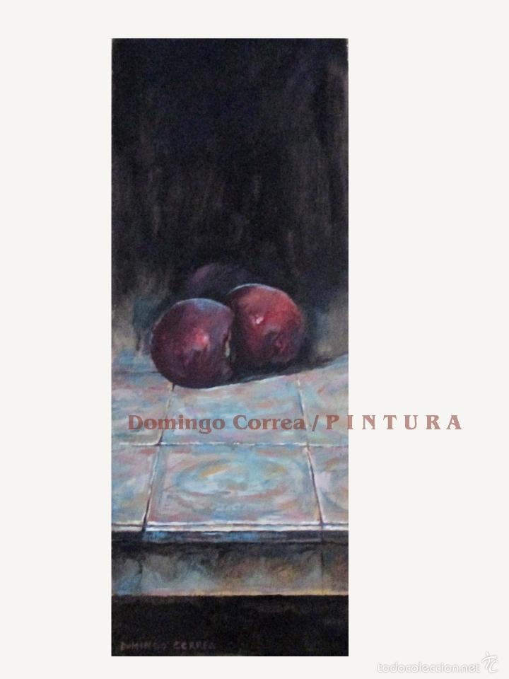 DOMINGO CORREA 'AZULEJOS II DE 2016' ÓLEO SOBRE TABLA. 38 X 14,5 CM. (Arte - Pintura Directa del Autor)