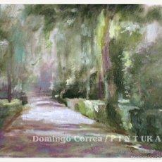 Arte: 'PAISAJE DEL PARQUE EN MAYO' DOMINGO CORREA. ÓLEO.. Lote 57614288