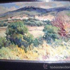 Arte: MIGUEL- MIQUEL- CARBONELL, 1930-2007. SARSAMARCUELLO-HUESCA.OLEO LIENZO 35X28. Lote 57678532