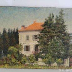 Arte: BONITO PAISAJE - OLEO SOBRE TABLA- ANTIGUA OBRA DE ORIGEN FRANCÉS FIRMADA POR EL ARTISTA. Lote 57707666