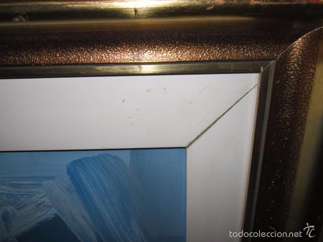 Arte: Óleo sobre lienzo firmado Landelas 72. Jarrón con flores. - Foto 5 - 57726391