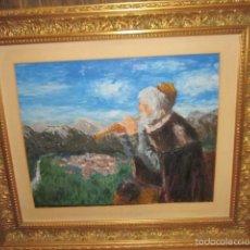 Arte: ÓLEO SOBRE LIENZO - FLAUTISTA - CON IMPORTANTE MARCO.. Lote 57726570