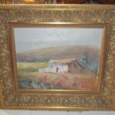 Arte: ÓLEO SOBRE LIENZO - CASONA - CON IMPORTANTE MARCO DE MADERA. FIRMADO. Lote 57726655