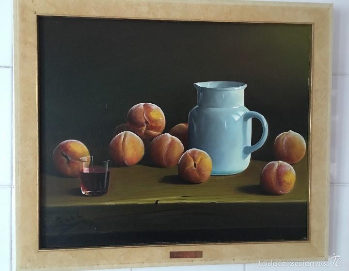 BODEGON JARRA Y MELOCOTONES (Arte - Pintura - Pintura al Óleo Moderna sin fecha definida)