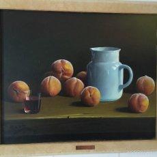 Arte: BODEGON JARRA Y MELOCOTONES. Lote 57754570