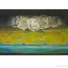 Arte: 'AZULEJO III. ROSAS SOBRE AMARILLO' DOMINGO CORREA. ÓLEO TABLA.. Lote 57769638