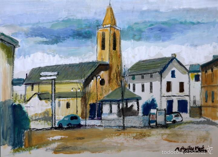 RAMÓN AGUILAR MORÉ, ÓLEO ORIGINAL (Arte - Pintura - Pintura al Óleo Contemporánea )