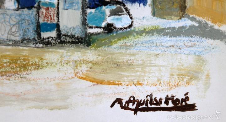 Arte: Ramón Aguilar Moré, óleo original - Foto 2 - 57820937