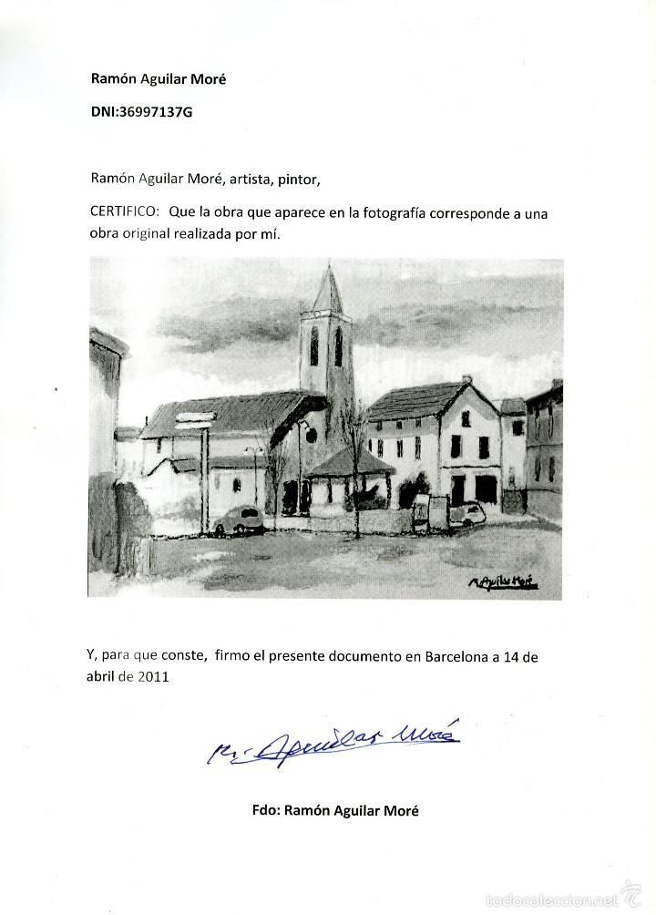 Arte: Ramón Aguilar Moré, óleo original - Foto 3 - 57820937