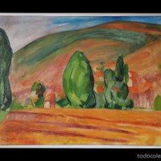 Arte: PAISAJE COLORISTA,EUGENIO RINCÓN, FIRMADO, BURGOS.. Lote 57846051