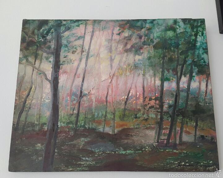 OLEO SOBRE LIENZO JORDI ANDREU FRESQUET (BADALONA 1940) (Arte - Pintura - Pintura al Óleo Contemporánea )