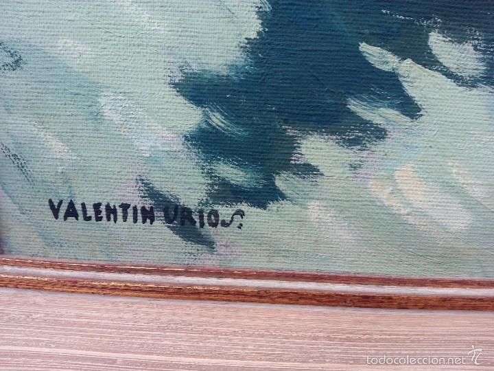 Arte: Oleo sobre Lienzo Valentin Urios - Albufera de Valencia - Foto 5 - 57915155