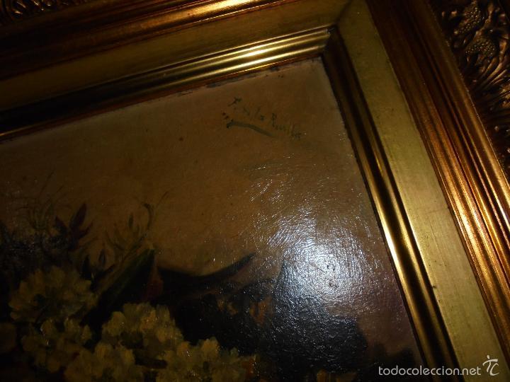 Arte: Bodegón de flores firmado, Revilla., - Foto 2 - 57932538