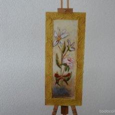 Arte: DOS OLEO PINTADO SOBRE PASPARTU CON TECNICA DE MARCO CON RELIEVE. Lote 57938731