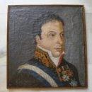 Arte: RETRATO FERNANDO VII. OLEO SOBRE LIENZO. FIRMADO Y FECHADO: FELICIANO PINETO 1836. Lote 57951359