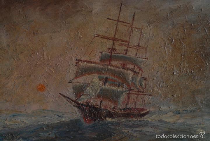 Arte: Cuadro de marina al óleo. Firmado Segura. - Foto 3 - 57975571