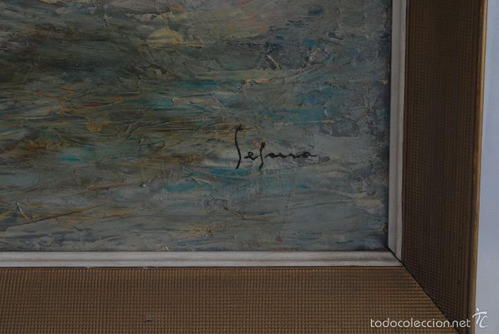 Arte: Cuadro de marina al óleo. Firmado Segura. - Foto 4 - 57975571