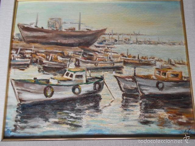 Oleo de embarcadero del pintor valenciano s lo comprar - Pintor valenciano ...