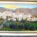 Arte: PUEBLO DE MONTAÑA. OLEO/LIENZO. 55X80 CMS. FIRMADO.. Lote 58123616
