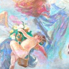 Arte: COMPOSICIÓN MODERNISTA. ÓLEO/LIENZO 76X116 CMS. FINES S. XIX. CIRCULO DE EMILIO SALA FRANCÉS.. Lote 58125825