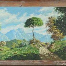 Arte: G3-057. PAISAJE DE MONTAÑA. ÓLEO SOBRE LIENZO. FIRMADO A. PLANELLS. SIGLO XX. . Lote 58143934