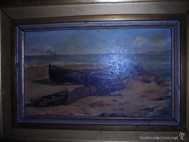 Arte: Marina en tabla SXIX-XX. - Foto 6 - 58211447