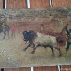 Arte: OLEO SOBRE TABLA, COSTUMBRISTA TAURINA.. Lote 58219849