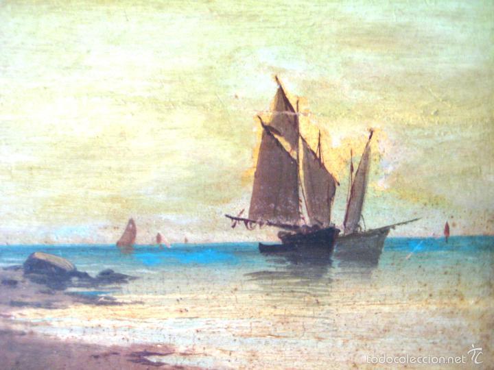 Arte: ANTIGUO ÓLEO/CARTÓN. ESCUELA VALENCIANA CIRCA 1900. FIRMADO J. GIL - Foto 3 - 58228223