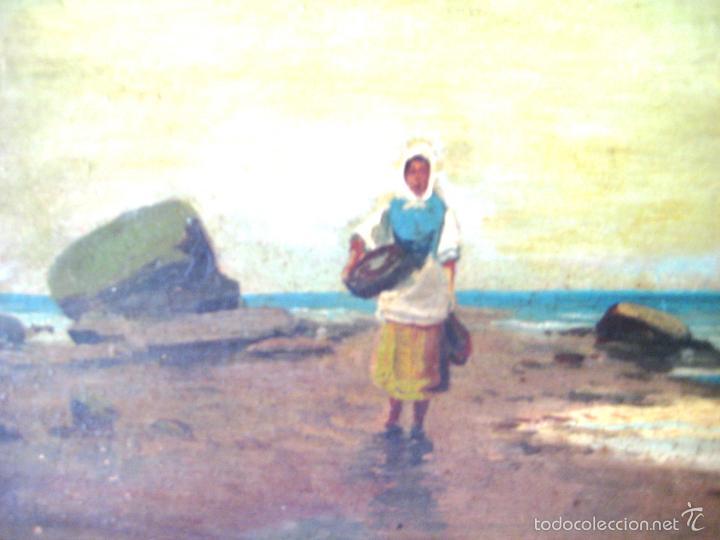 Arte: ANTIGUO ÓLEO/CARTÓN. ESCUELA VALENCIANA CIRCA 1900. FIRMADO J. GIL - Foto 4 - 58228223