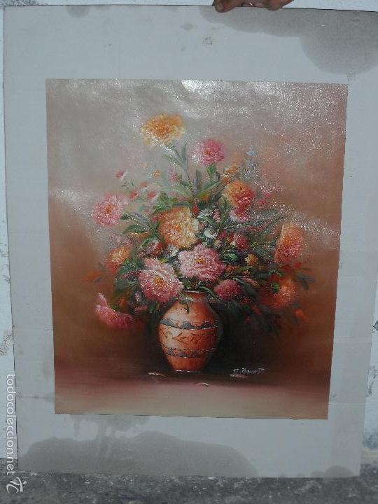 BODEGON DE FLORES AL OLEO SOBRE TELA FIRMADO (Arte - Pintura - Pintura al Óleo Moderna sin fecha definida)