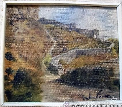 Arte: Oleo de M. Ballester. 14,3x12,2 cm. - Foto 4 - 27555615
