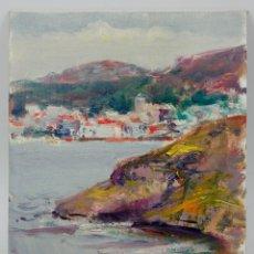 Arte: SIMÓ BUSOM (BARCELONA 1927) CADAQUÉS, ÓLEO SOBRE TABLEX 22X27 CM.. Lote 58253050
