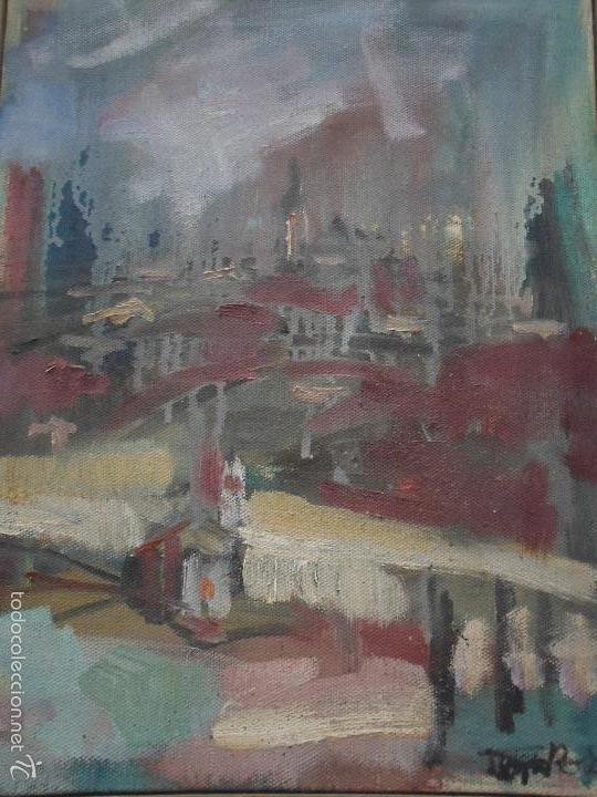 PINTURA EXPRESIONISTA CON FIRMA ILEGIBLE PROBABLEMENTE DE BOLÓS (Arte - Pintura - Pintura al Óleo Contemporánea )