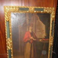 Arte: OLEO SOBRE LIENZO. RETRATO DEL PADRE CRISTOBAL RODRIGUEZ DE IBUEL. FECHADO EN 1682.. Lote 58267543