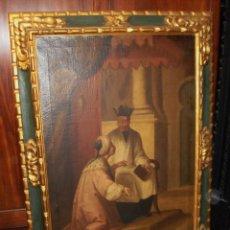 Arte: OLEO SOBRE LIENZO. RETRATO DEL PADRE THOMAS DE LA VEGA Y GOBEO. FECHADO EN 1682.. Lote 58267973