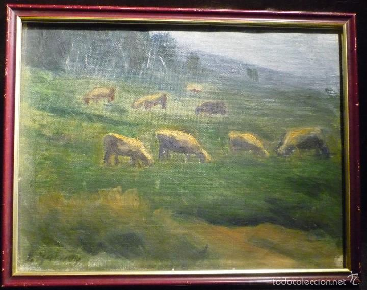 PAISAJE DE OLOT POR ENRIC GALWEY (1864-1931) (Arte - Pintura - Pintura al Óleo Contemporánea )